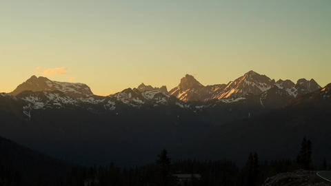 Snow mountain at sunset time Stock Video Footage