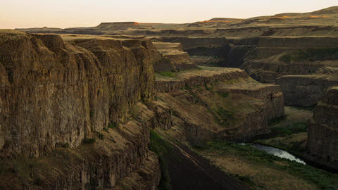 Palouse Canyon sunset light Stock Video Footage