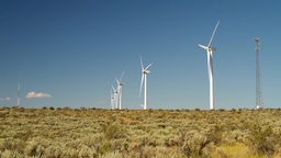 Eco Energy from Windmill Stock Video Footage
