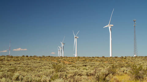 Eco Energy From Windmill stock footage