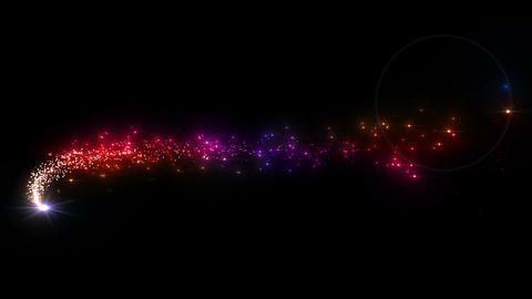 Light streaks and particles C 1a 3 HD Animation