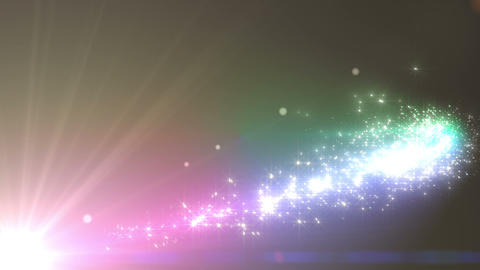 Light streaks and particles Cr 1a 3 HD Animation