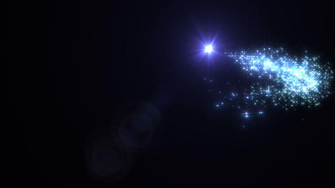 Light streaks and particles Cr 1b 2 HD Stock Video Footage