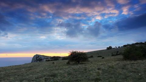 4K. Timelapse sunset in the mountains Merdven-Kaya Footage