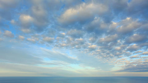 4K. Cloudy sky over the sea (Time Lapse). FULL HD Stock Video Footage