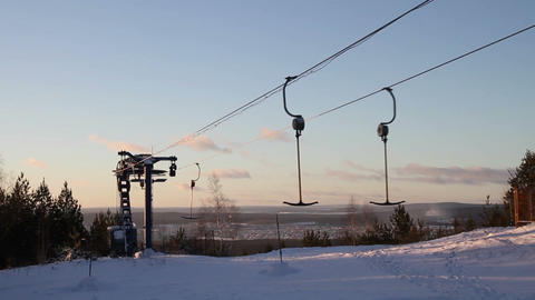Work Ski Lift stock footage
