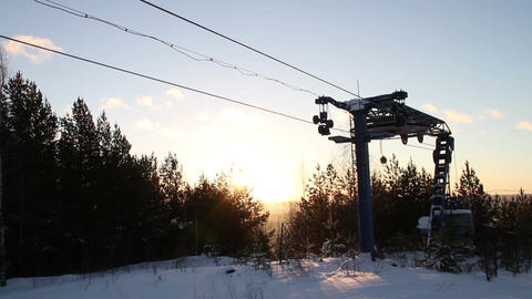 Work ski lift Footage