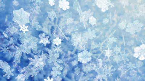 Snowflakes falling HD-NTSC-PAL Stock Video Footage