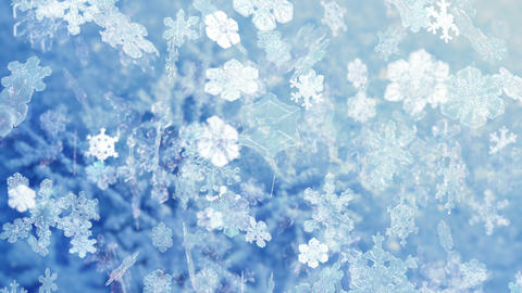 Snowflakes Falling HD-NTSC-PAL stock footage