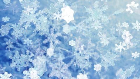 Snowflakes falling HD-NTSC-PAL Stock Video Footage