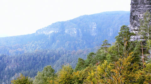 Panorama of Czech Switzerland Stock Video Footage