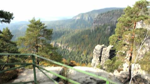 Man walks in mountains. Czech Republic Stock Video Footage