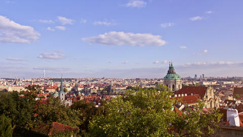 Prague City, Time Lapse Stock Video Footage