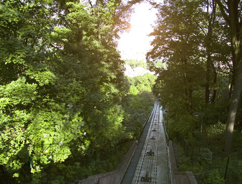 The Petrin funicular. Prague. Time Lapse Stock Video Footage