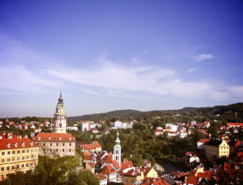 Cesky Krumlov, Czech Republic. Time Lapse Footage