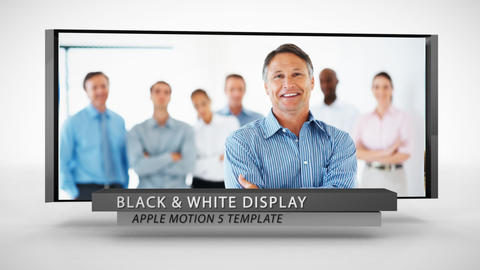 Black And White Display - Apple Motion and Final Cut Pro X Template Apple Motion Template