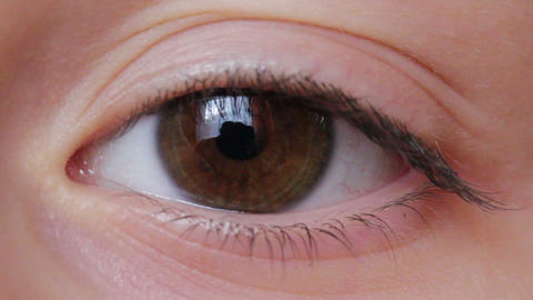Eye Macro Shot F2 stock footage