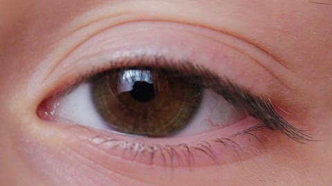 Eye Macro Shot F2 Stock Video Footage