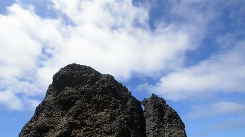 tilt to Roque del Morro 11135 Stock Video Footage