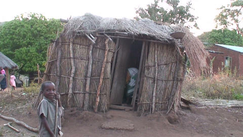 African Village (1) Stock Video Footage