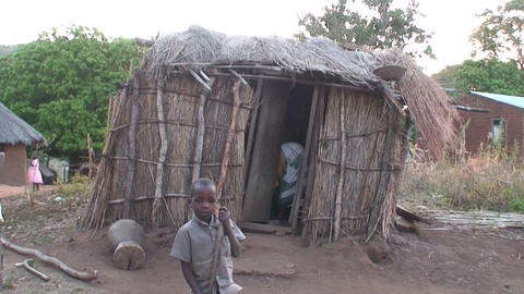 African Village (1) Footage