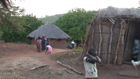 African Village (3) Stock Video Footage