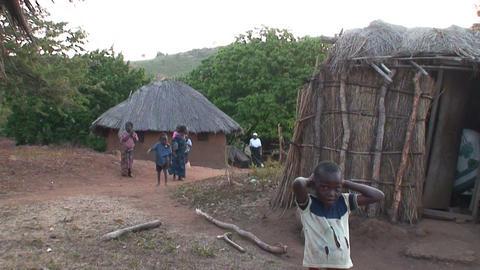 African Village (3) Footage
