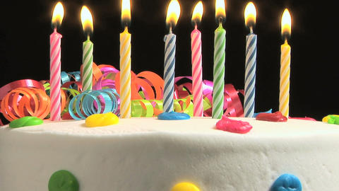 Birthday Cake Stock Video Footage