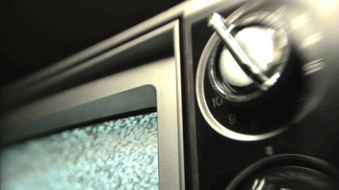 Static TV Stock Video Footage