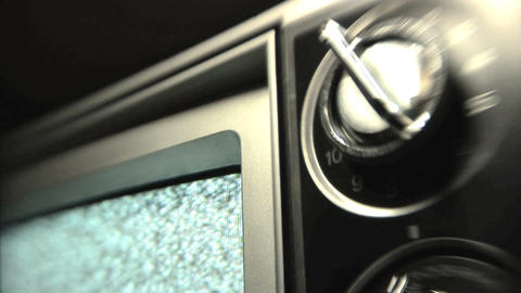Static TV stock footage