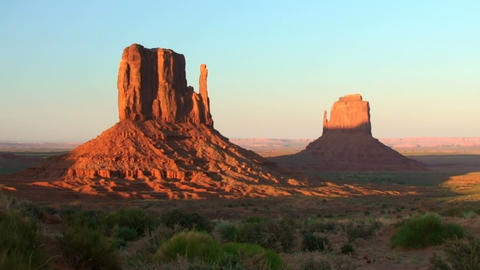 Monument Valley, sunset, time lapse Stock Video Footage