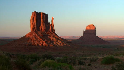 Monument Valley, sunset, time lapse Footage