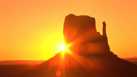 Monument Valley, sunrise, time lapse Stock Video Footage
