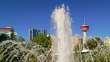 Fountain and Calgary Tower Footage
