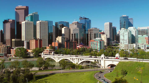 Calgary Skyline Footage