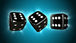 Casino Dices Spinning Stock Video Footage