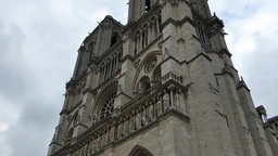 Notre-Dame de Paris also known Notre-Dame Cathedra Footage
