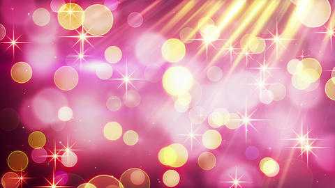 yellow pink blinking bokeh lights loop Animation
