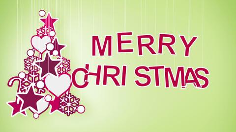 merry christmas greeting loop Stock Video Footage