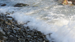 Crashing waves on the shore Stock Video Footage