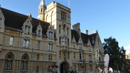 An old building in the street of Oxford, UK.(OXFOR Stock Video Footage