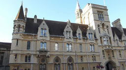 An Old Building In The Street Of Oxford, UK.(OXFOR stock footage