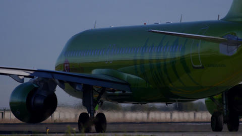 Airplane taxiing For Take Off Stock Video Footage