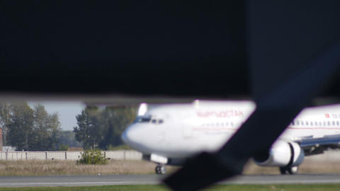 Passenger Plane Landing Stock Video Footage