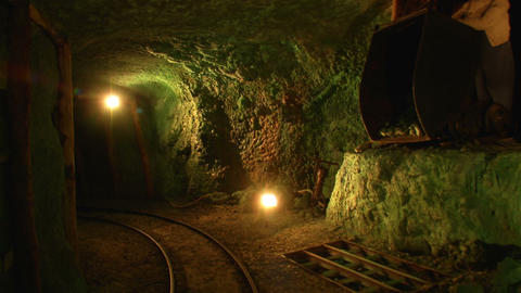 mining tunnel 05 Footage