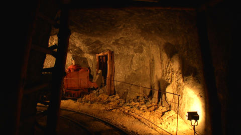 mining tunnel 07 Stock Video Footage