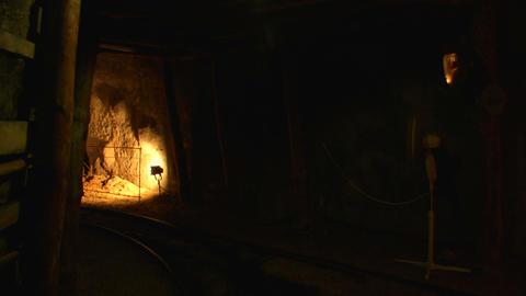 mining tunnel 07 Stock Video Footage