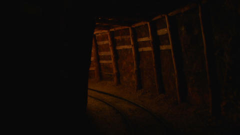 mining tunnel 09 Stock Video Footage