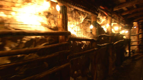 mining tunnel 09 Stock Video Footage