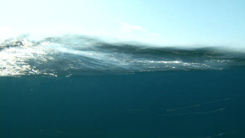 sea water line Stock Video Footage